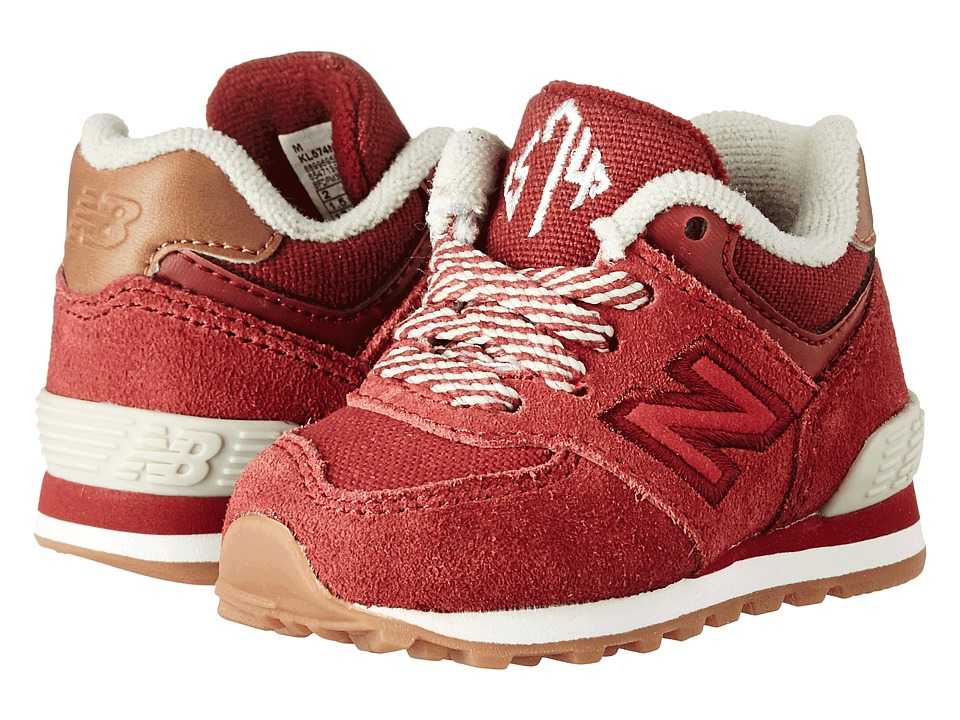 New Balance Kids 574 New England (Infant/Toddler) (Red/Yellow) Boys Shoes