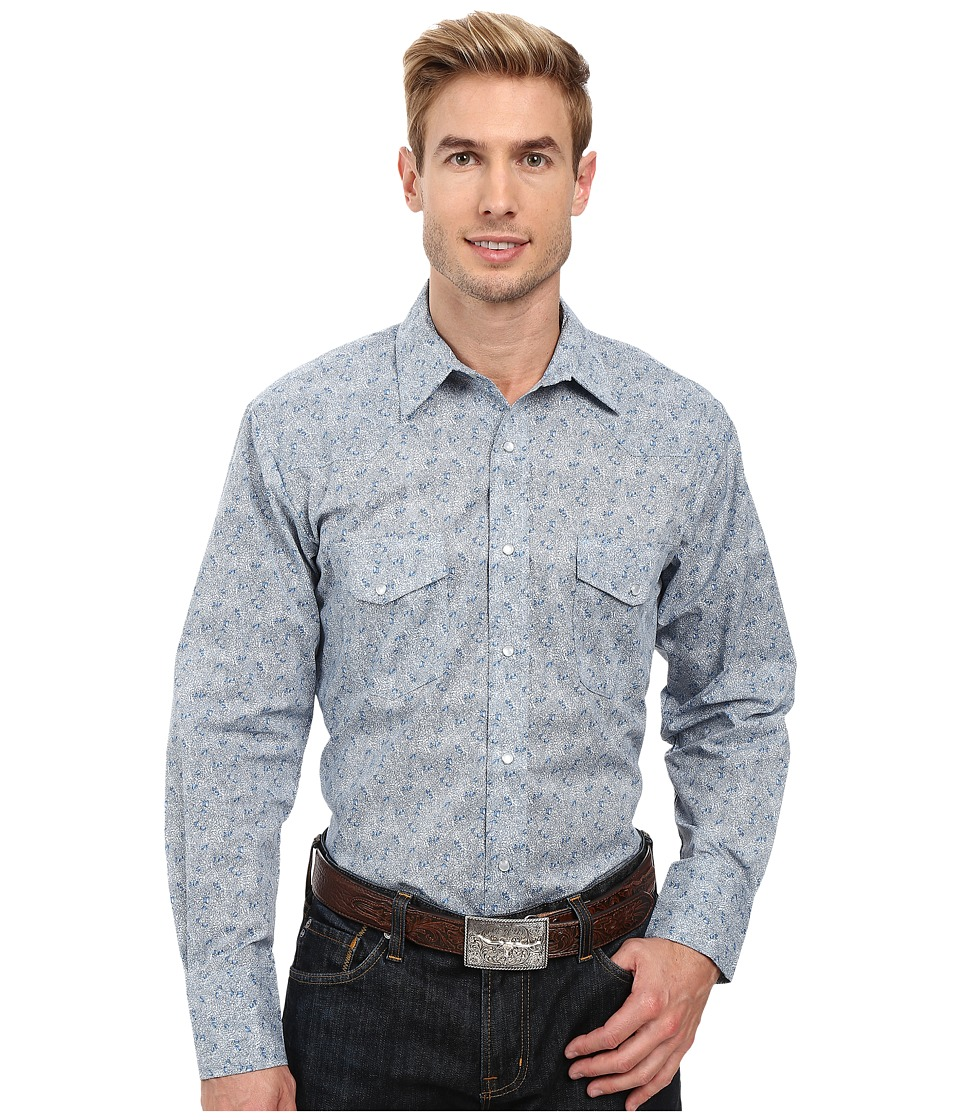 Roper - 0419 Tiny Print (Blue) Men's Clothing
