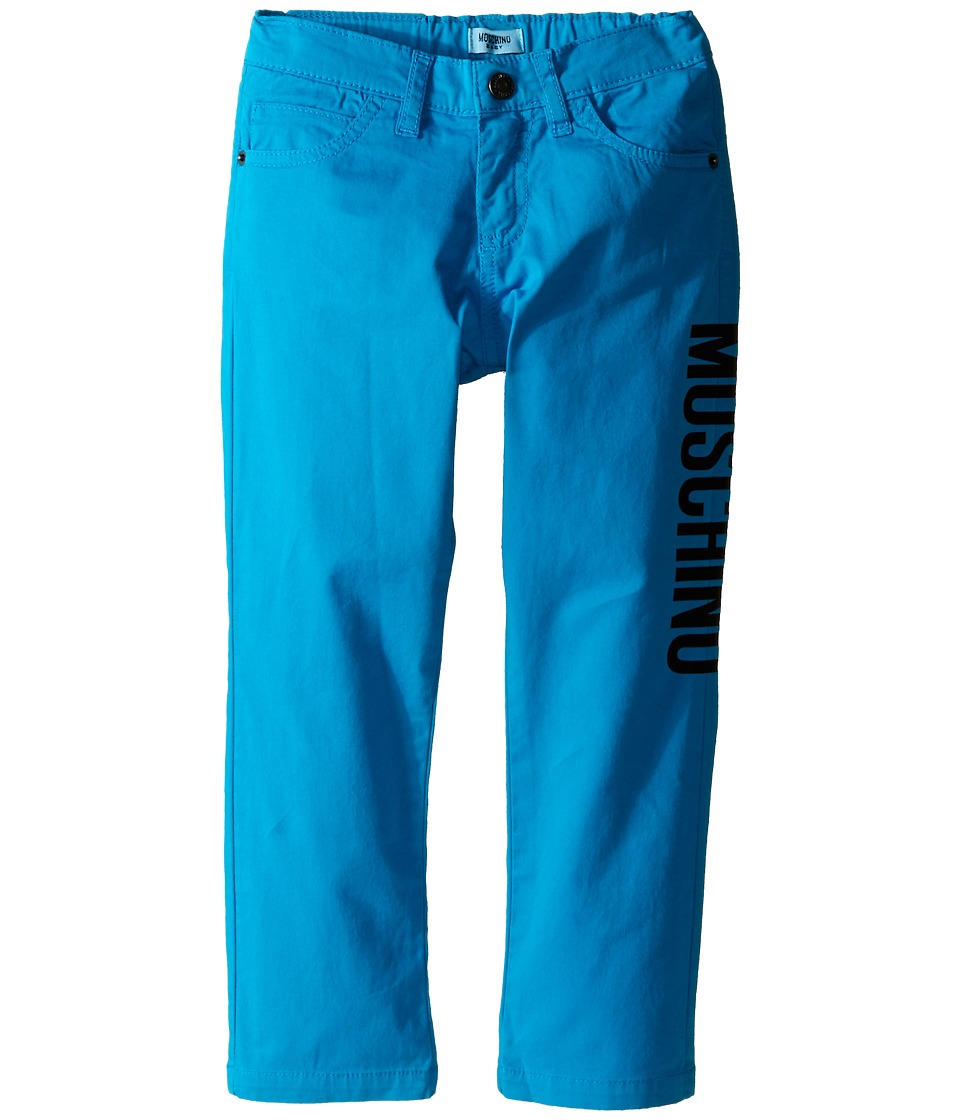 Moschino Kids - Pants w/ Side Logo (Infant/Toddler) (Blue) Boy's Casual Pants