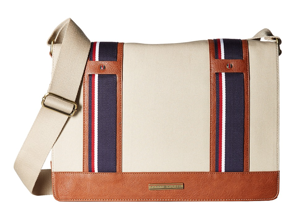 Tommy Hilfiger - Connor Messenger Bag (Khaki) Messenger Bags