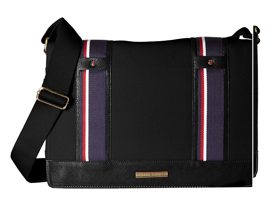 Tommy Hilfiger - Connor Messenger Bag (Black) Messenger Bags