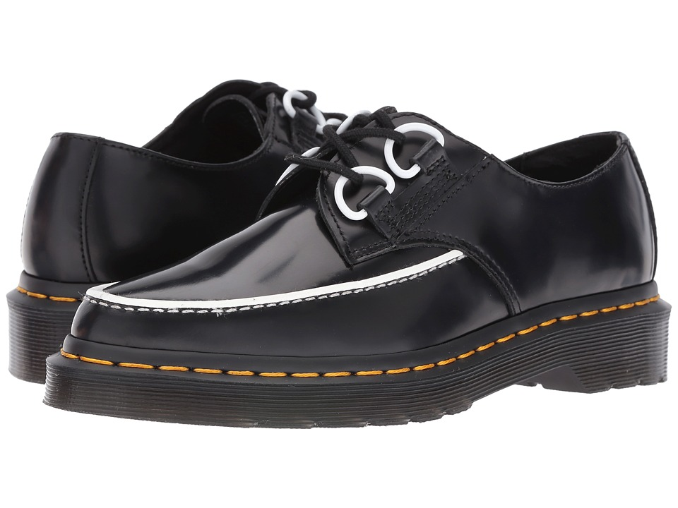 Dr. Martens - Belladonna Pointed 2-Eye Creeper (Black Polished Smooth) Women's Lace up casual Shoes