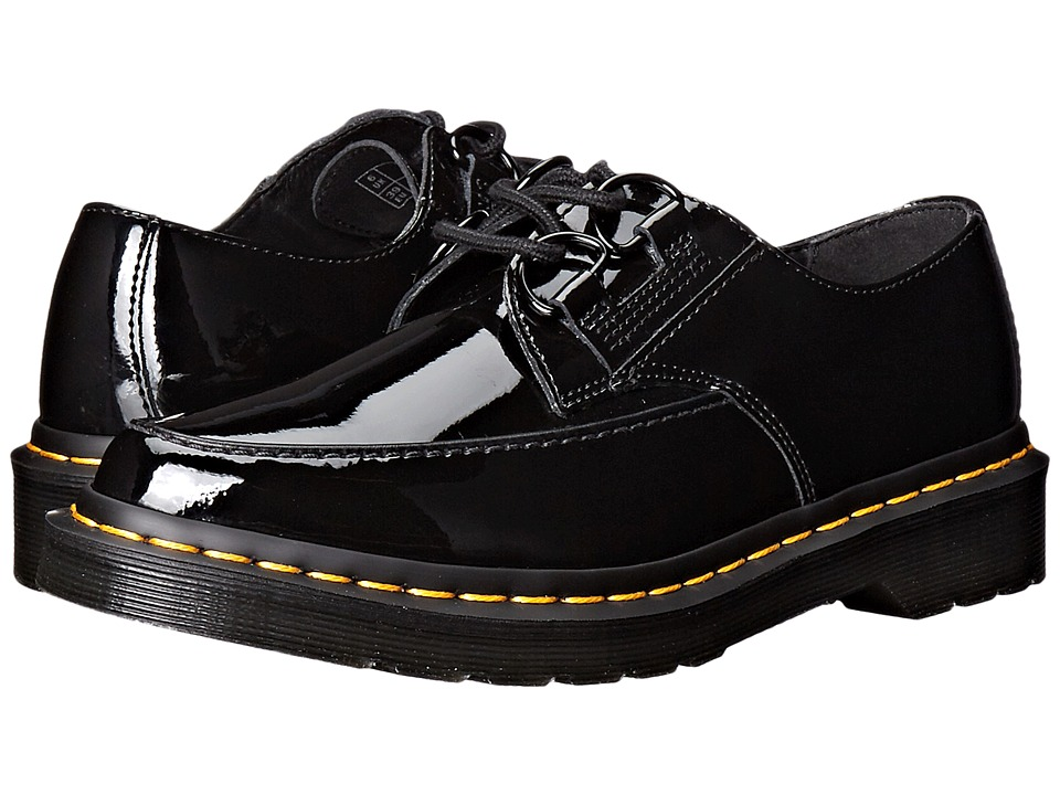 Dr. Martens - Belladonna Pointed 2-Eye Creeper (Black Patent Lamper) Women's Lace up casual Shoes