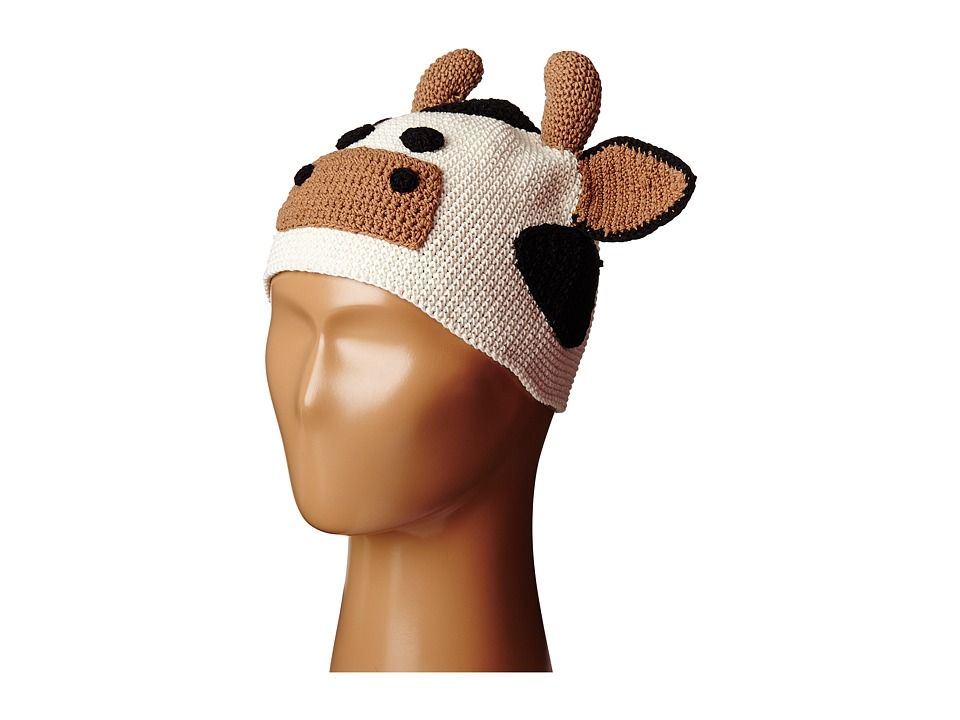 San Diego Hat Company Kids - Cotton Crochet Cow Beanie (Toddler/Little Kids) (Cow) Beanies