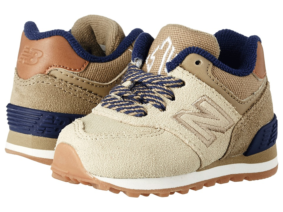 New Balance Kids - 574 New England (Infant/Toddler) (Tan/Tan) Boys Shoes