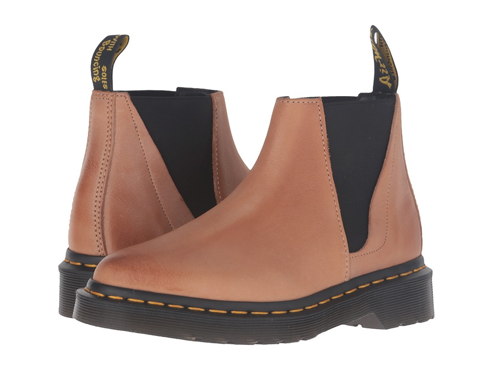 Dr. Martens - Bianca Low Shaft Zip Chelsea (Brown Antique Milled Brunido) Women's Pull-on Boots