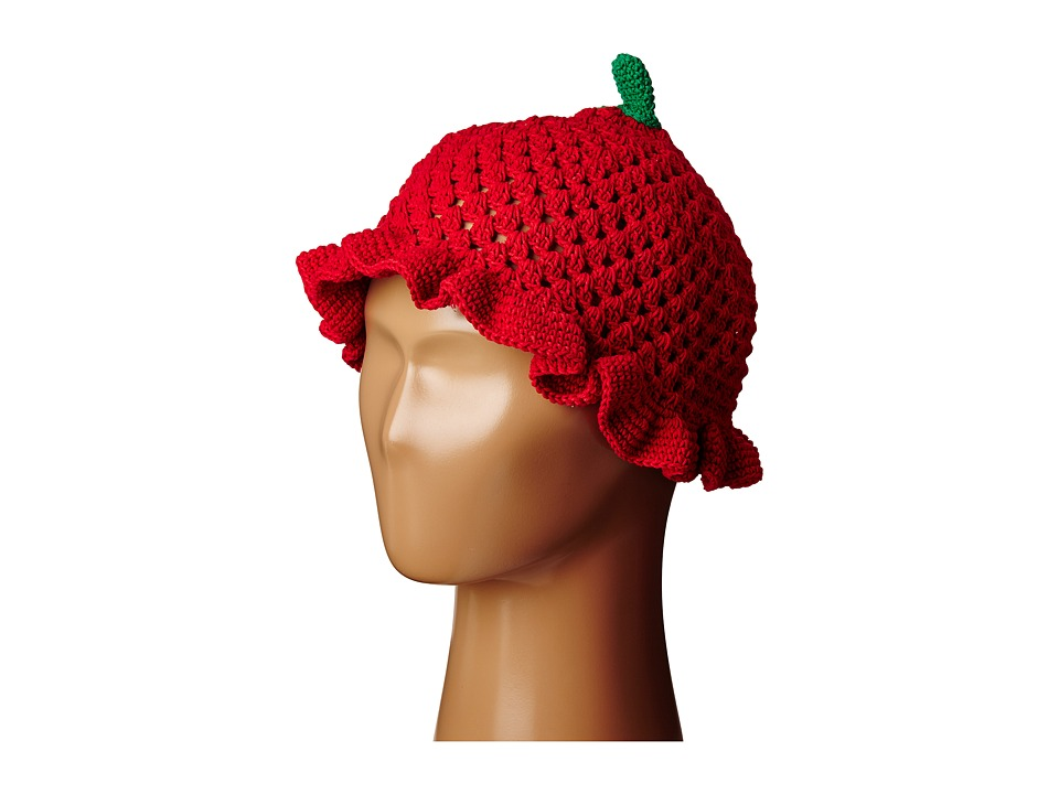 San Diego Hat Company Kids - Cotton Crochet Strawberry Beanie (Toddler/Little Kids) (Strawberry) Beanies