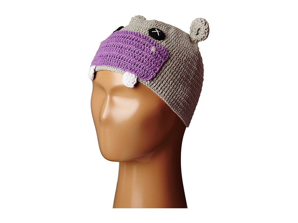 San Diego Hat Company Kids - Cotton Crochet Hippo Beanie (Toddler/Little Kids) (Purple Hippo) Beanies