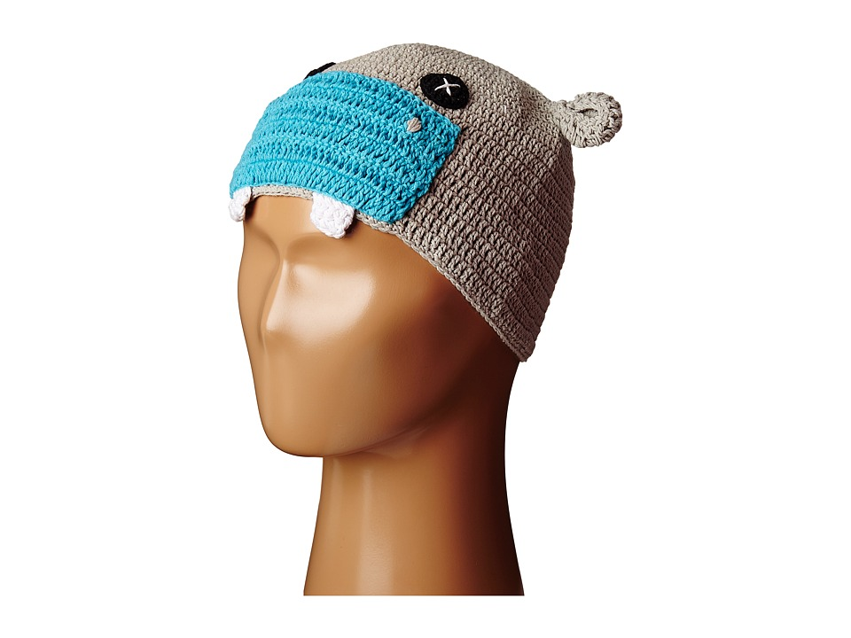 San Diego Hat Company Kids - Cotton Crochet Hippo Beanie (Toddler/Little Kids) (Blue Hippo) Beanies