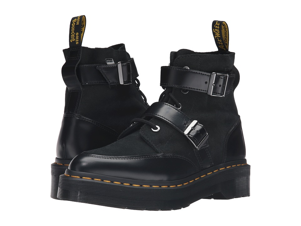 Dr. Martens - Masha Creeper Boot (Black Polished Smooth) Women's Lace-up Boots