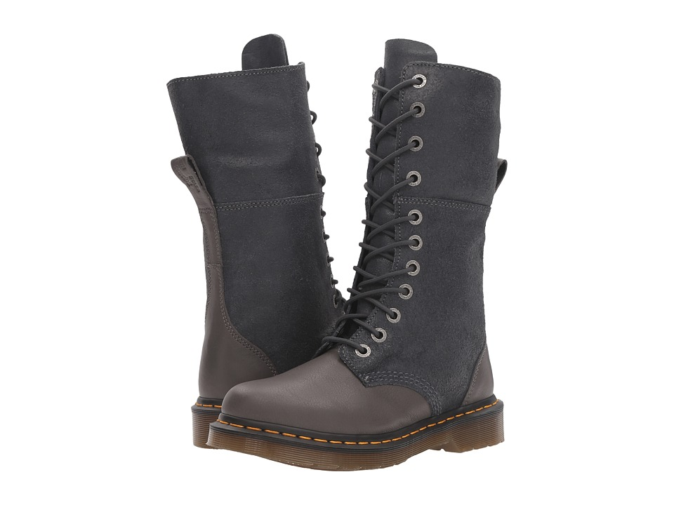 Dr. Martens Hazil Tall Slouch Boot (Lead Virginia) Women