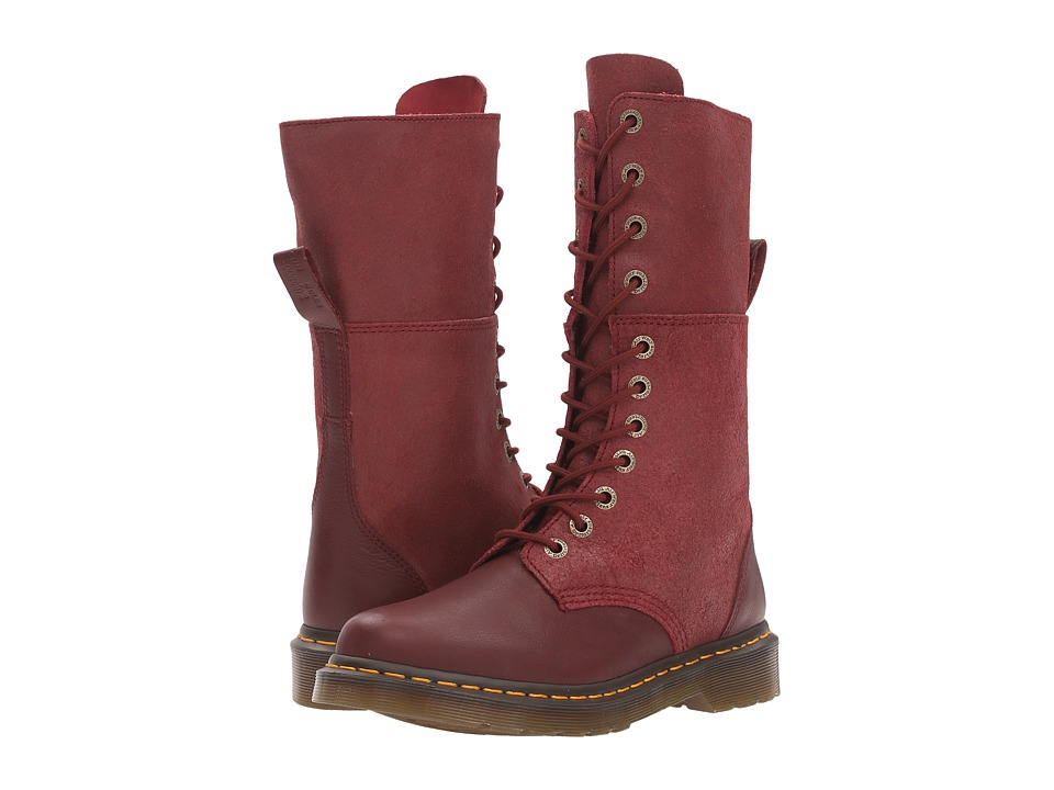 Dr. Martens Hazil Tall Slouch Boot (Cherry Red Virginia) Women