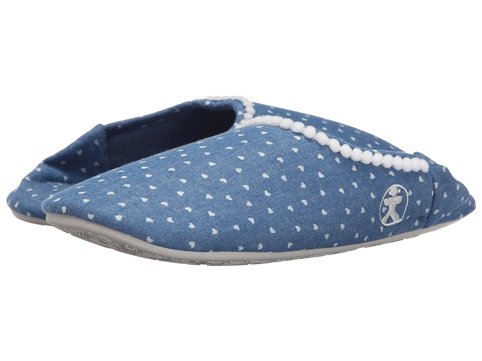 Bedroom Athletics - Hilary (Denim Hearts Blue) Women's Slippers