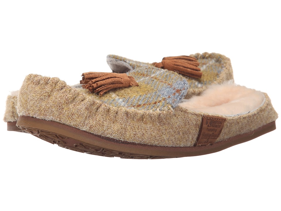 Bedroom Athletics - Charlotte (Mustard/Denim Check) Women's Slippers