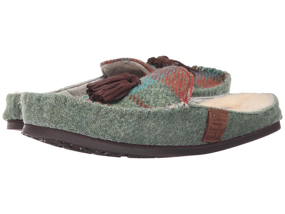 Bedroom Athletics - Charlotte (Green/Orange Check) Women's Slippers