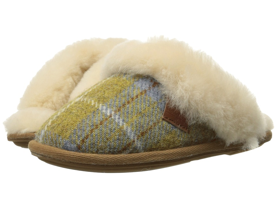 Bedroom Athletics - Kate Harris Tweed (Mustard/Denim Check 1) Women's Slippers