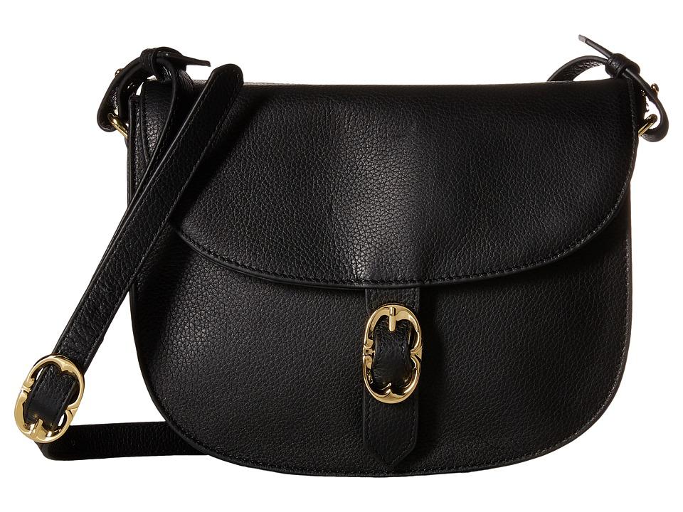 Emma Fox - Dales Leather Crossbody (Black) Cross Body Handbags
