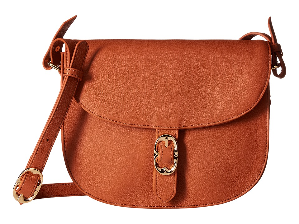 Emma Fox - Dales Leather Crossbody (True Cognac) Cross Body Handbags