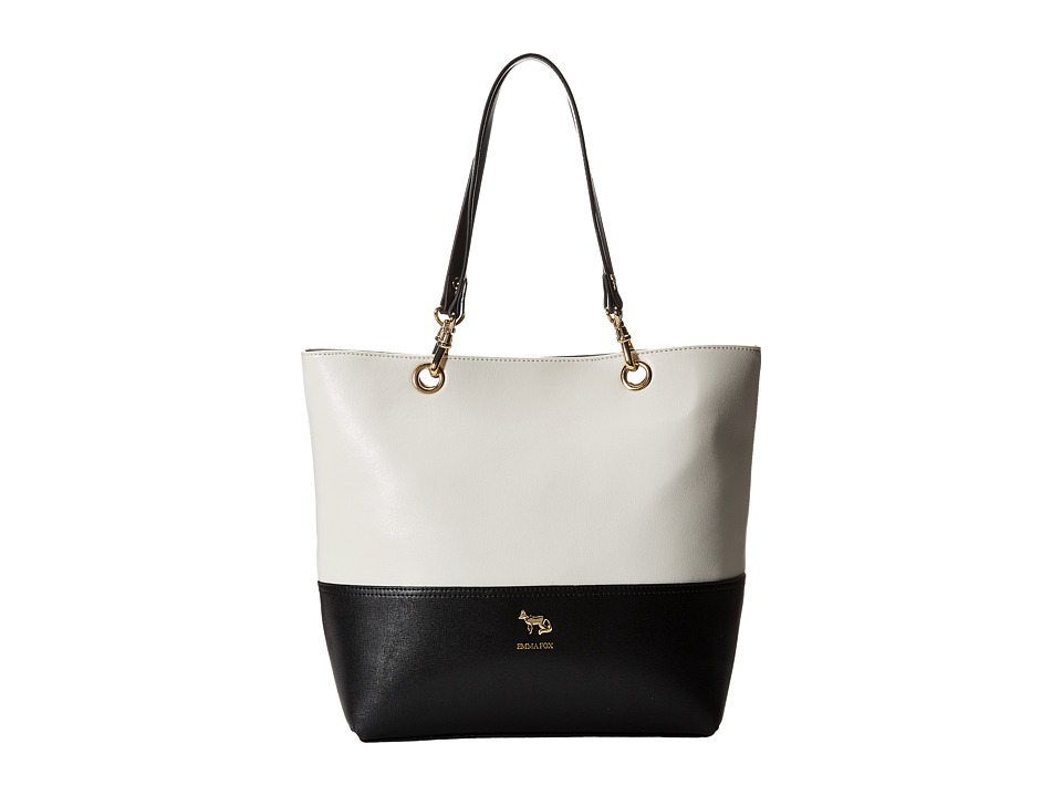 Emma Fox - Jutland Dome Satchel (White/Black) Satchel Handbags