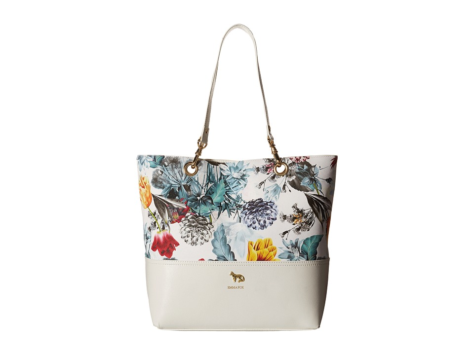 Emma Fox - Jutland Dome Satchel (White/Multi) Satchel Handbags