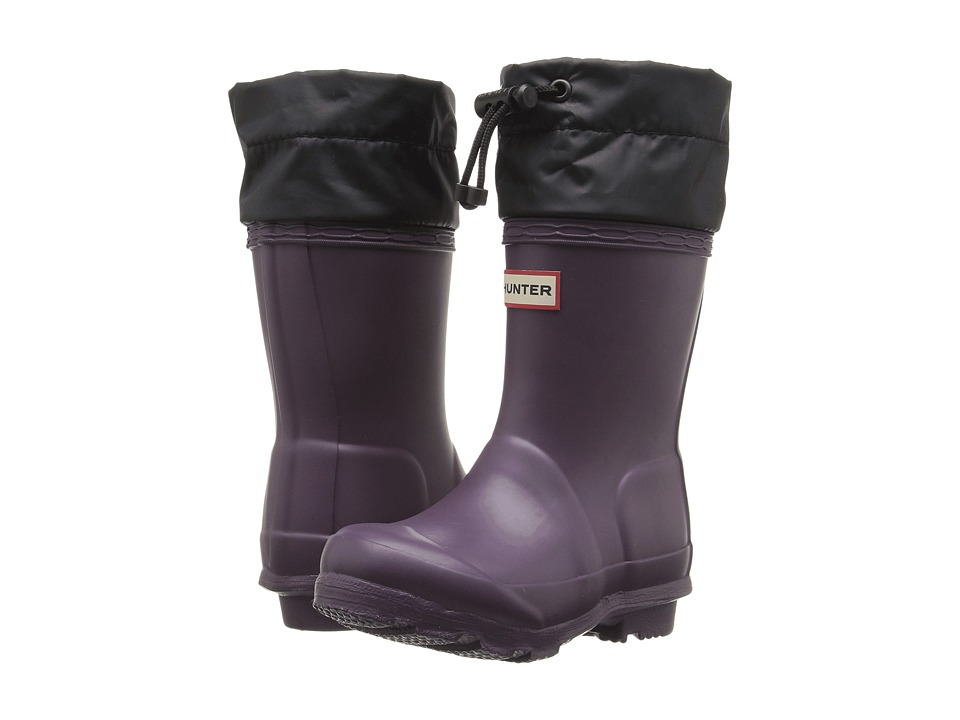 Hunter Kids - Original Quilted Cuff (Toddler/Little Kid) (Purple Urchin/Black) Kids Shoes