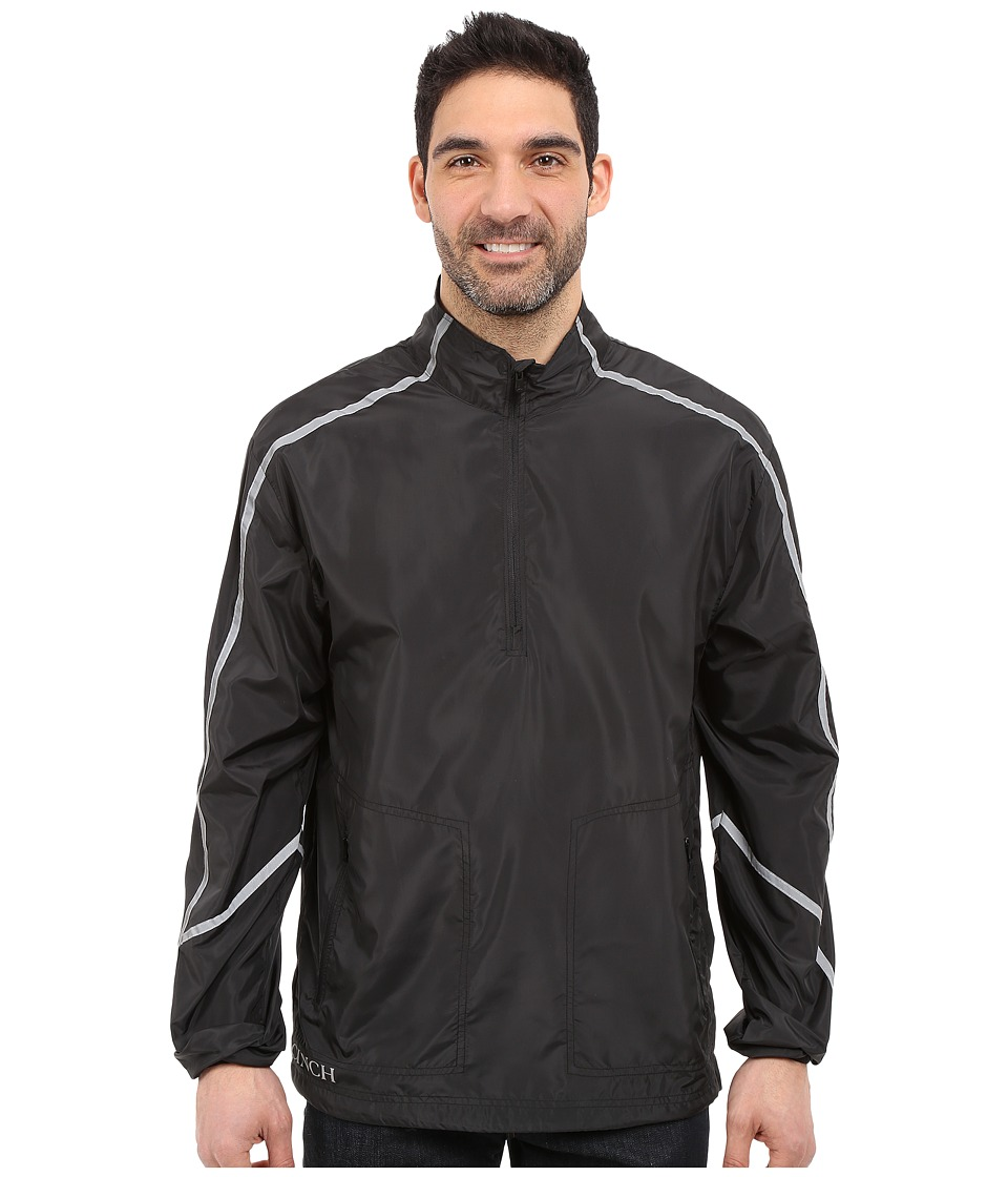 Cinch - Windbreaker 1/2 Zip (Black) Men's Coat