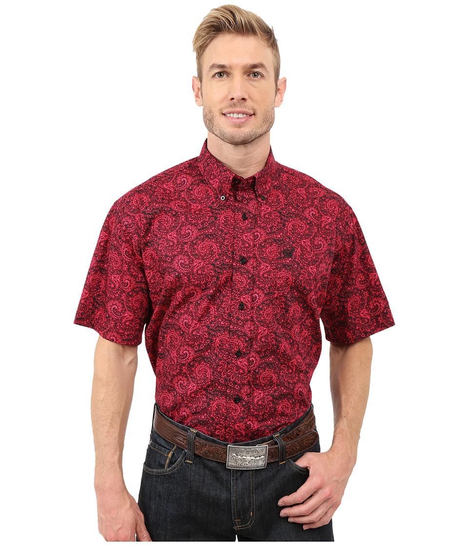 Cinch - Short Sleeve Print (Pink) Men's Clothing