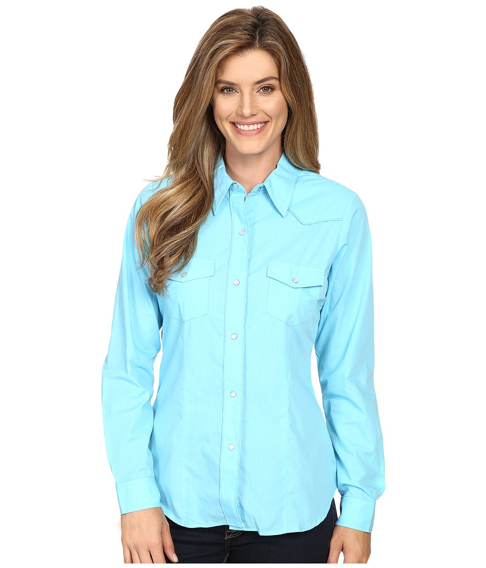 Roper - 0487 Solid Broadcloth - Turquoise (Blue) Women's Clothing