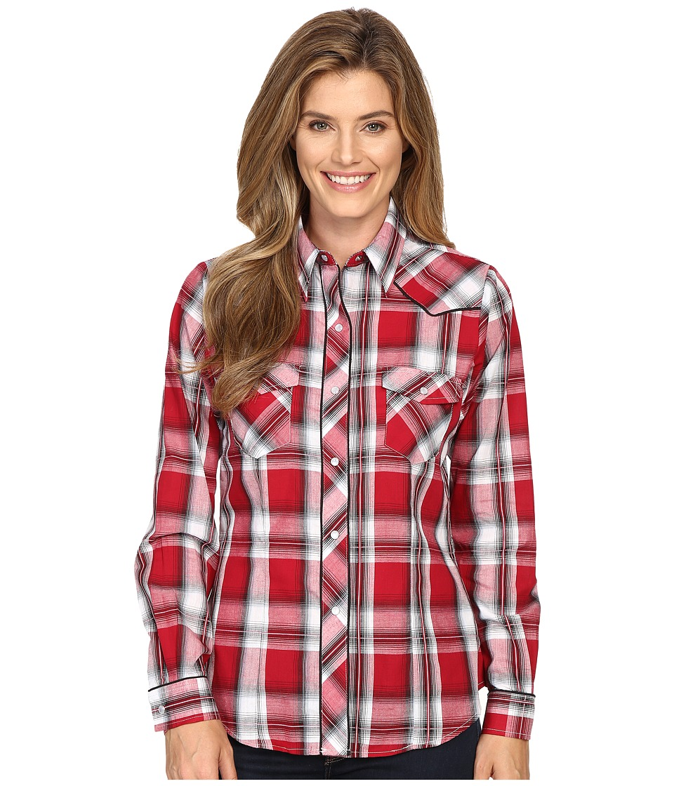 Roper - 0379 Red Black Plaid (Red) Women's Clothing