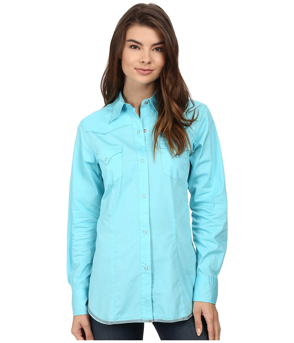 Roper - 00456 Solid Poplin - Aqua (Blue) Women's Clothing