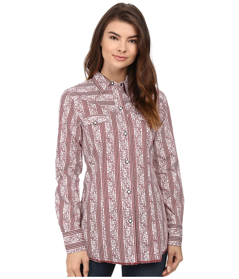 Roper - 0441 Vintage Striped Floral (Red) Women's Clothing