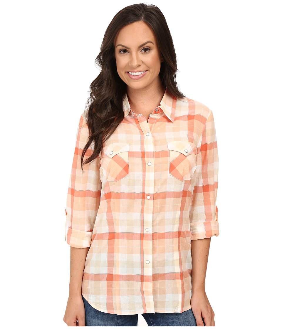 Roper - 0422 Tangerine Plaid (Orange) Women's Clothing