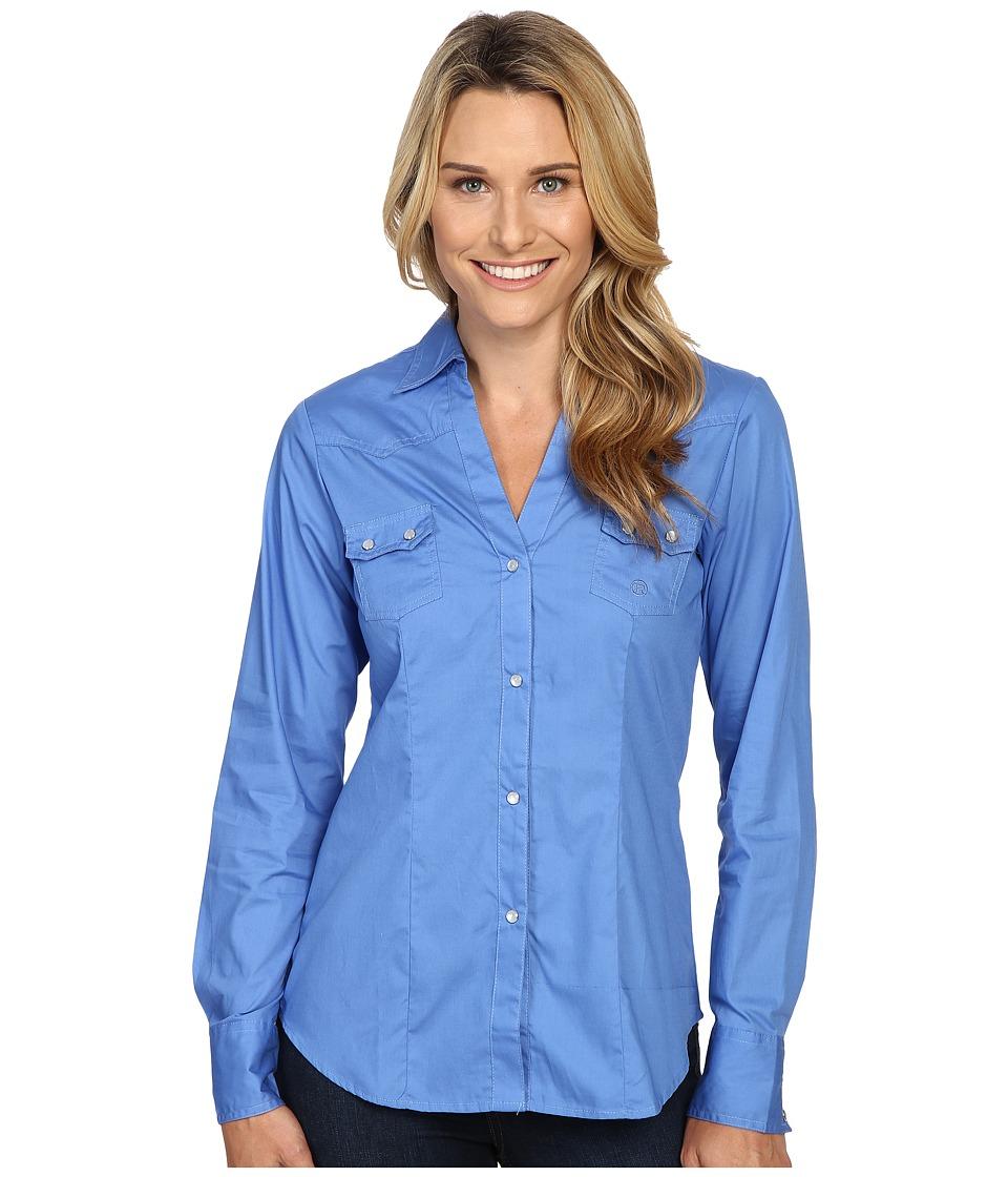 Roper - 0466 Solid Poplin (Blue) Women's Clothing