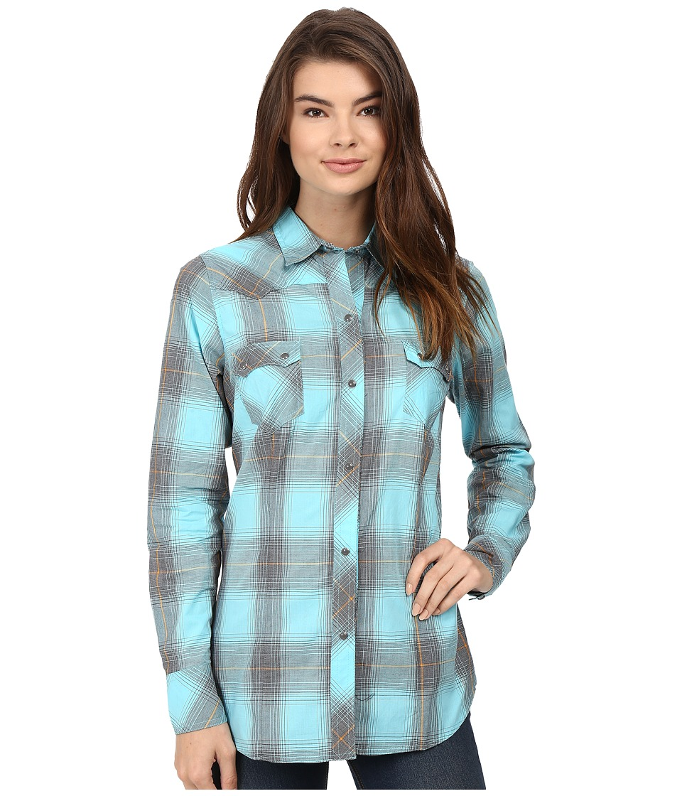 Roper - 0435 Thorn Plaid (Blue) Women's Clothing