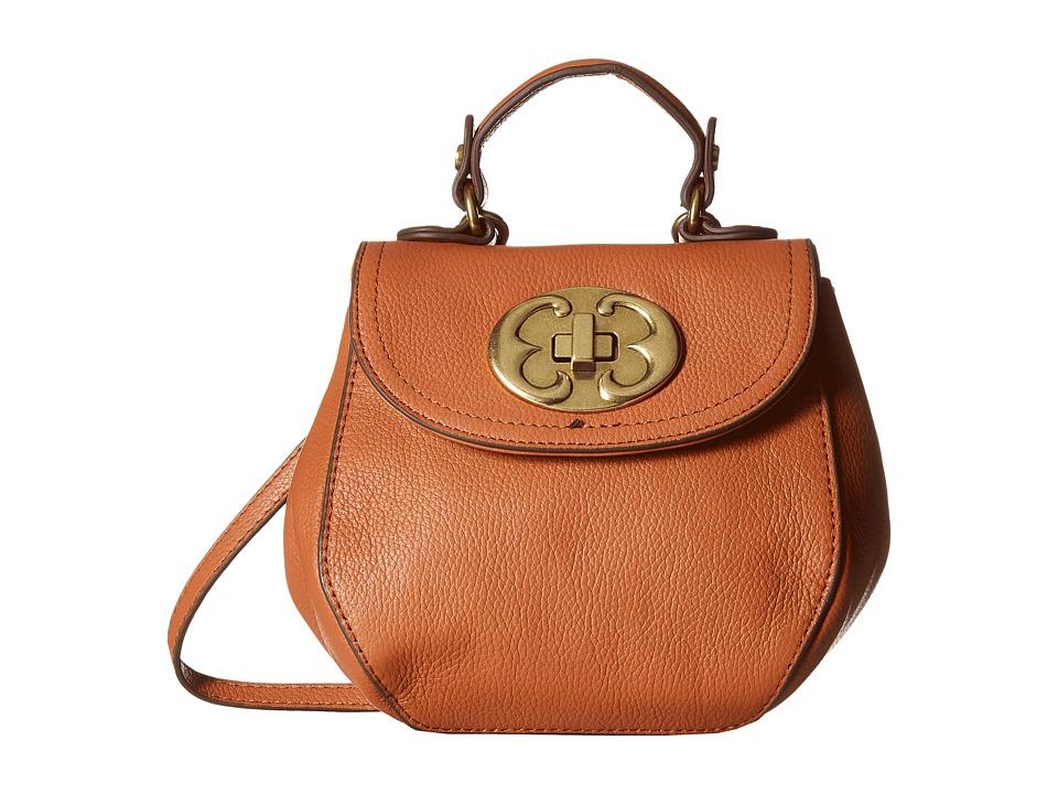 Emma Fox - Leto Mini Top-Handle (True Cognac) Cross Body Handbags