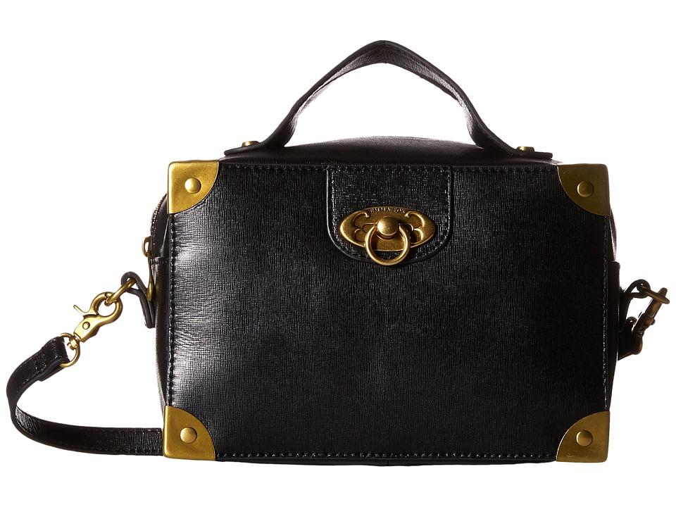 Emma Fox - Artemis Boxy Satchel (Black) Satchel Handbags