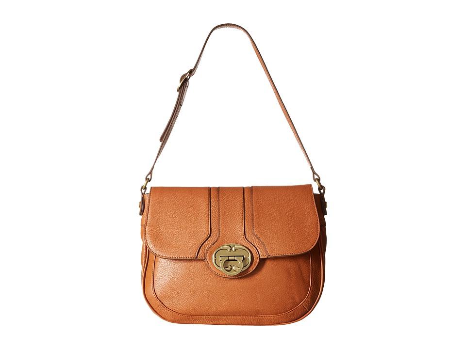 Emma Fox - Harrow Large Flap (True Cognac) Shoulder Handbags