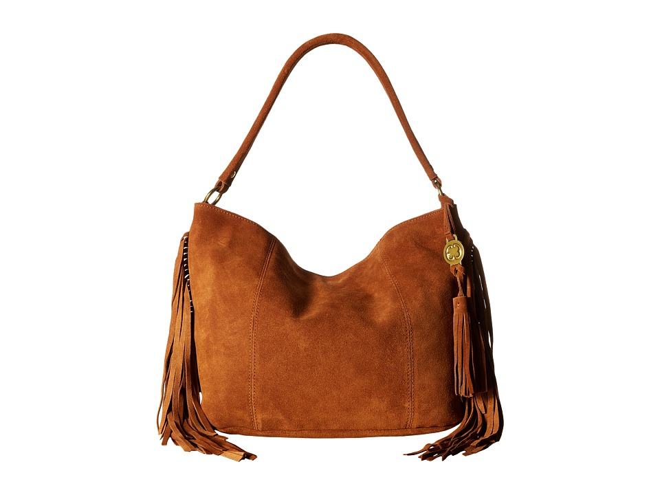 Emma Fox - Pollux Suede Hobo (Cognac) Hobo Handbags