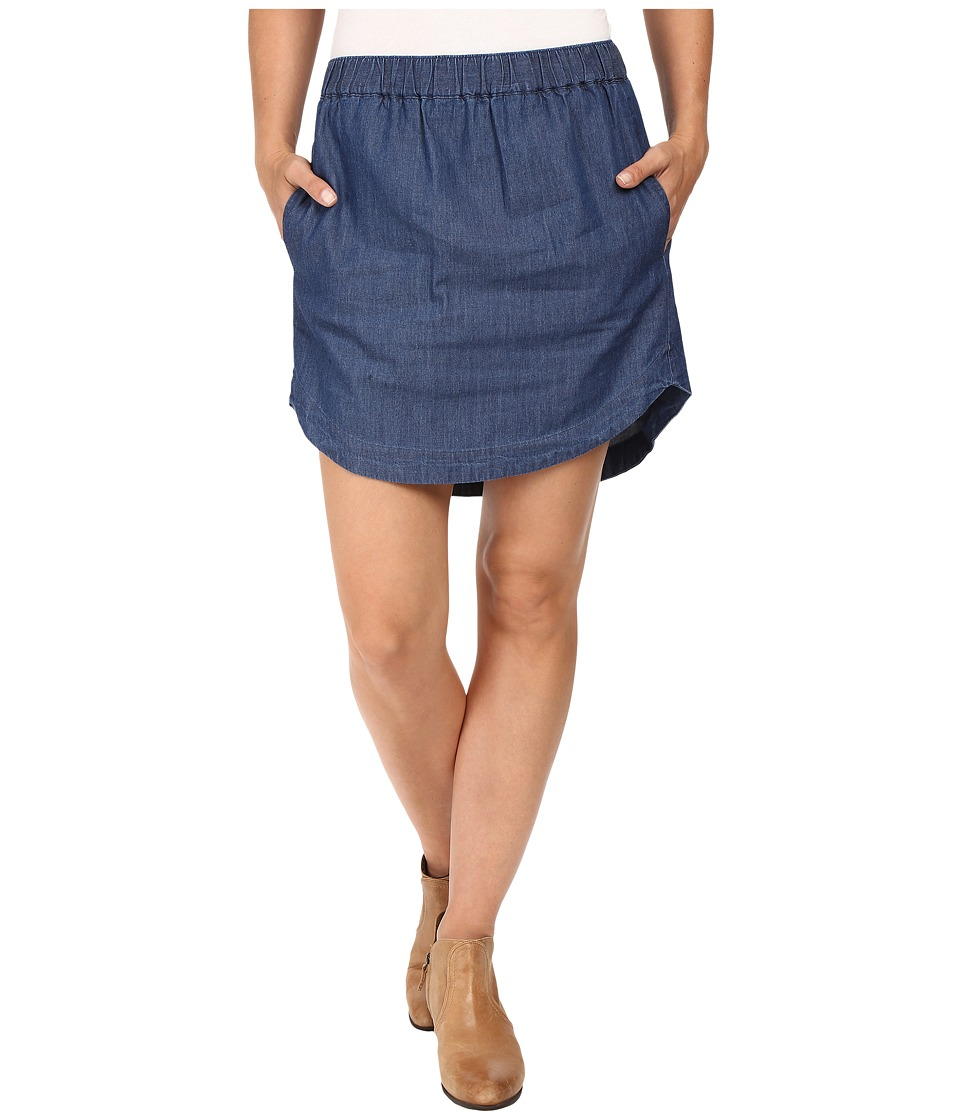 Roper - 0425 5 OZ Denim Hi-Lo Mini Skirt (Blue) Women's Skirt