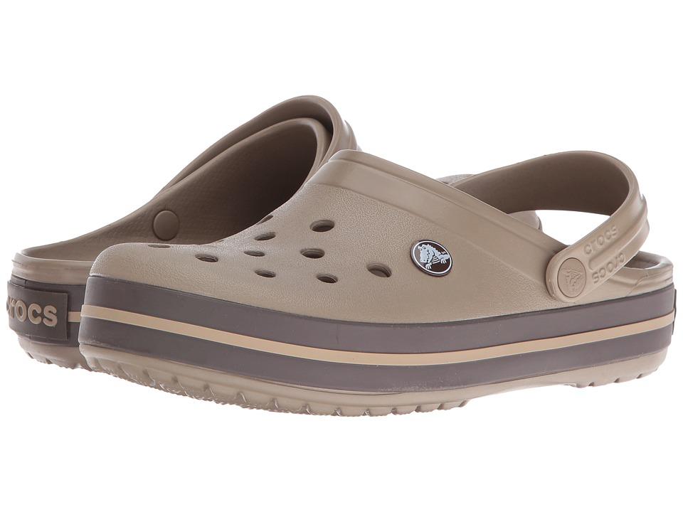 Crocs - Crocband (Khaki/Espresso) Clog Shoes