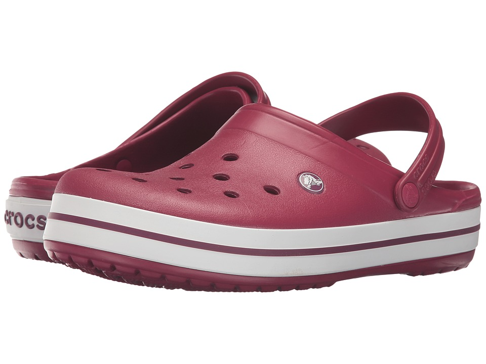 Crocs - Crocband (Pomegranate/White) Clog Shoes