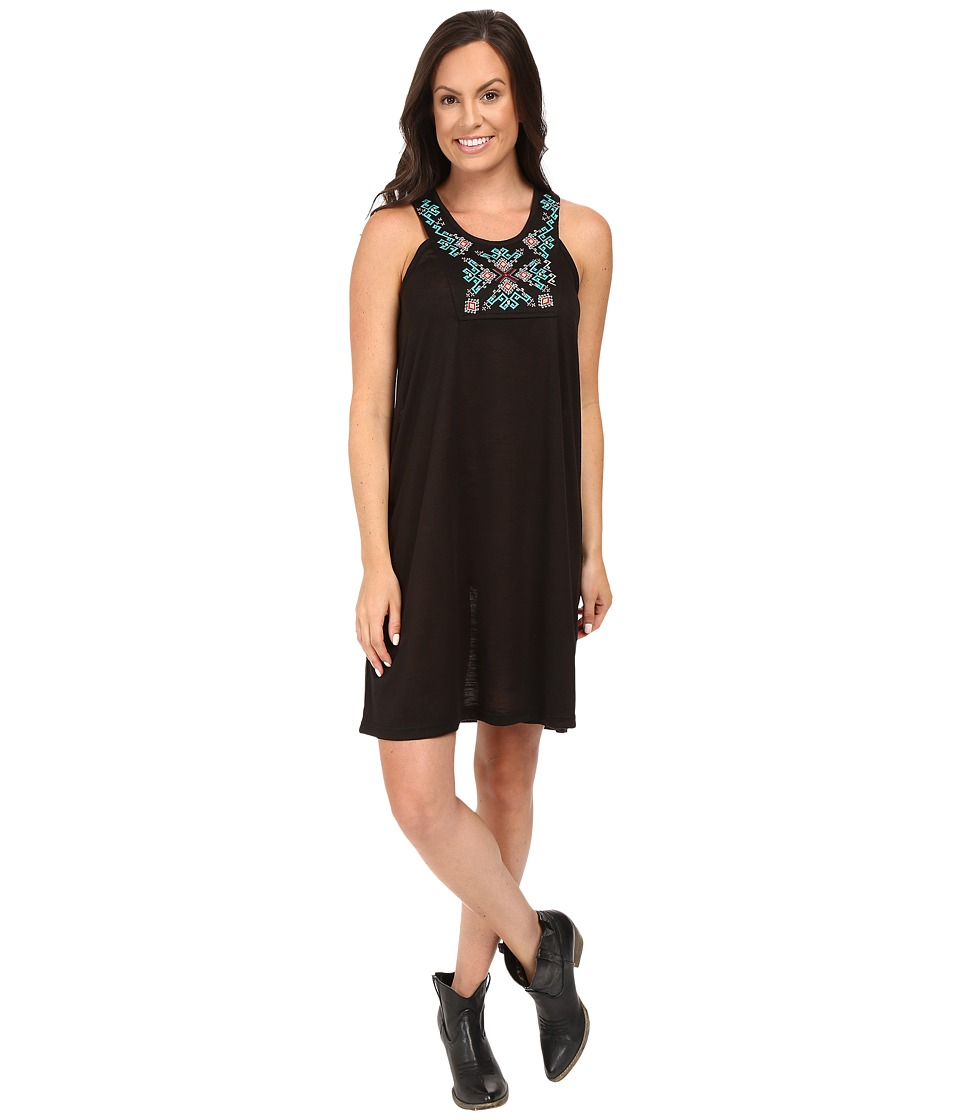 Roper 0427 Poly Slub Jersey Dress (Black) Women