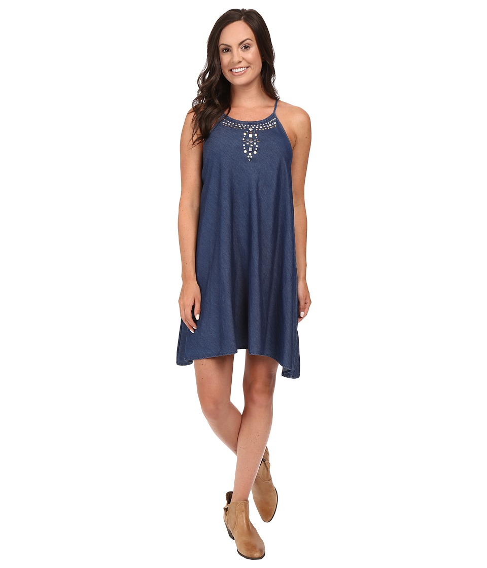 Roper 0425 5 OZ Indigo Denim Sharkbite Dress (Blue) Women