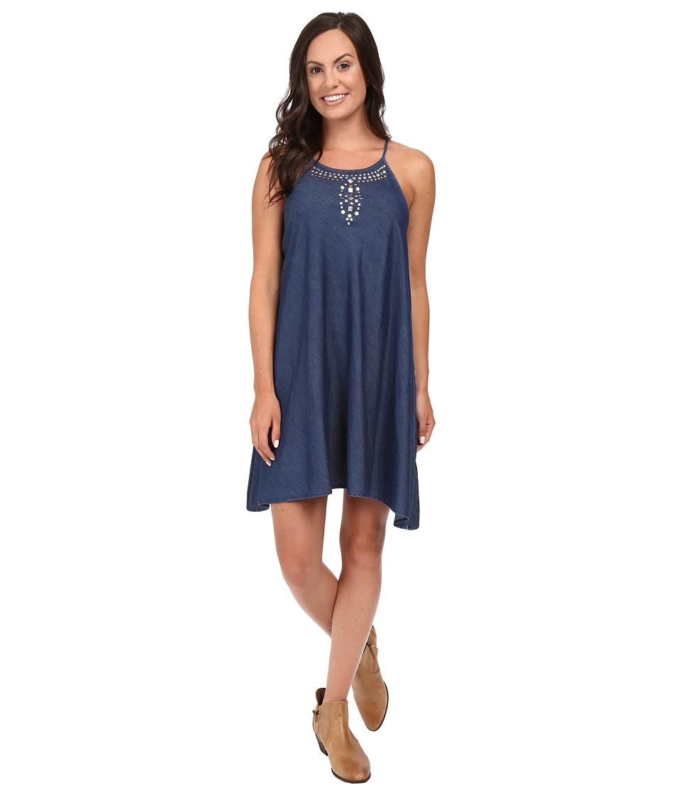Roper - 0425 5 OZ Indigo Denim Sharkbite Dress (Blue) Women's Dress