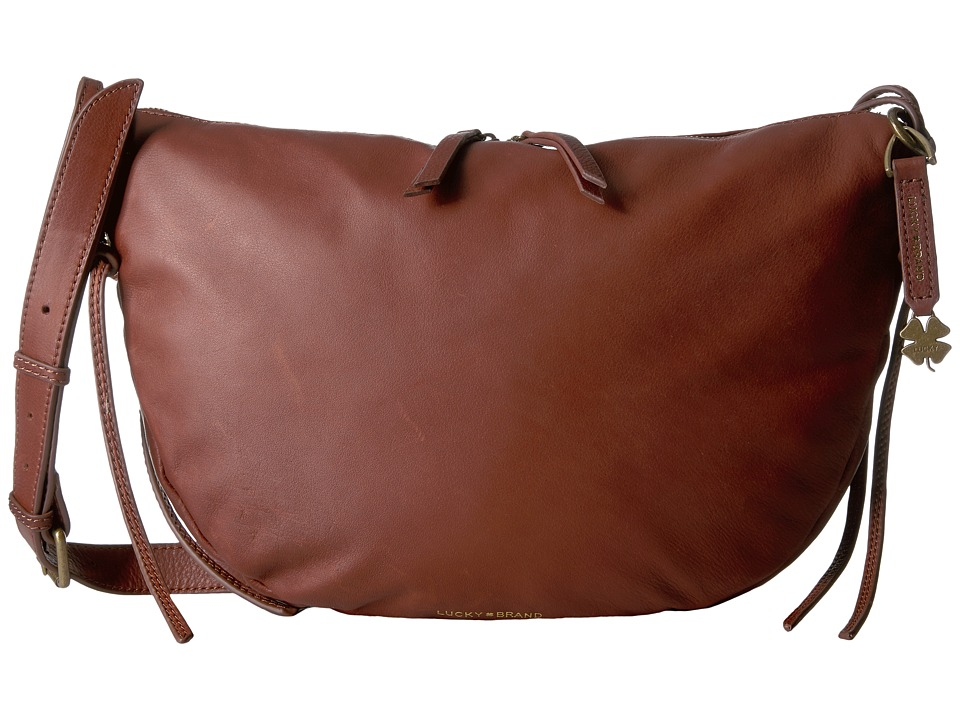 Lucky Brand - Nyla Crescent Hobo (Brandy) Hobo Handbags