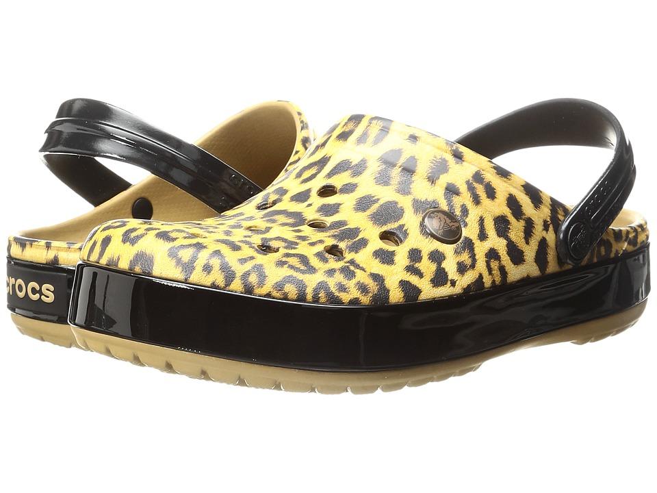 Crocs Crocband Leopard II Clog (Camel) Clog Shoes