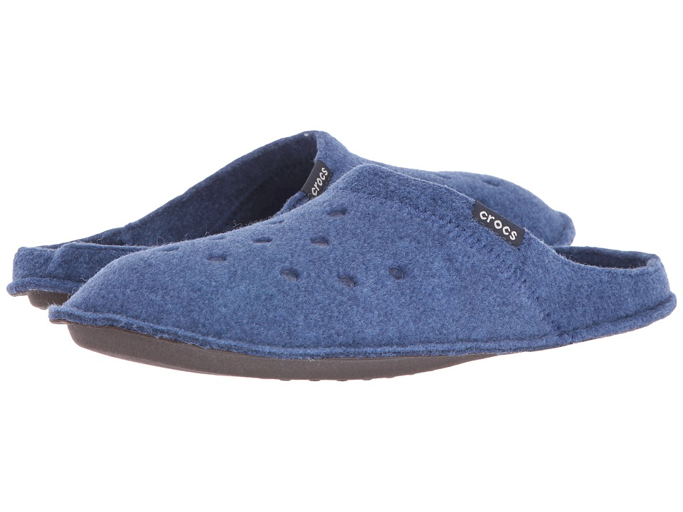 Crocs - Classic Slipper (Cerulean Blue/Oatmeal) Slippers