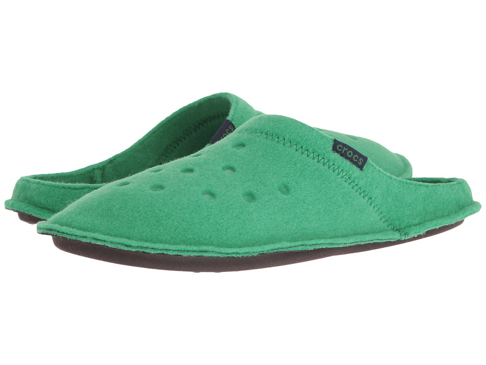 Crocs - Classic Slipper (Kelly Green/Oatmeal) Slippers