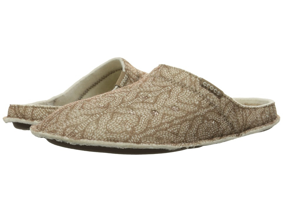 Crocs - Classic Cable Knit Slipper (Stucco/Walnut) Slippers