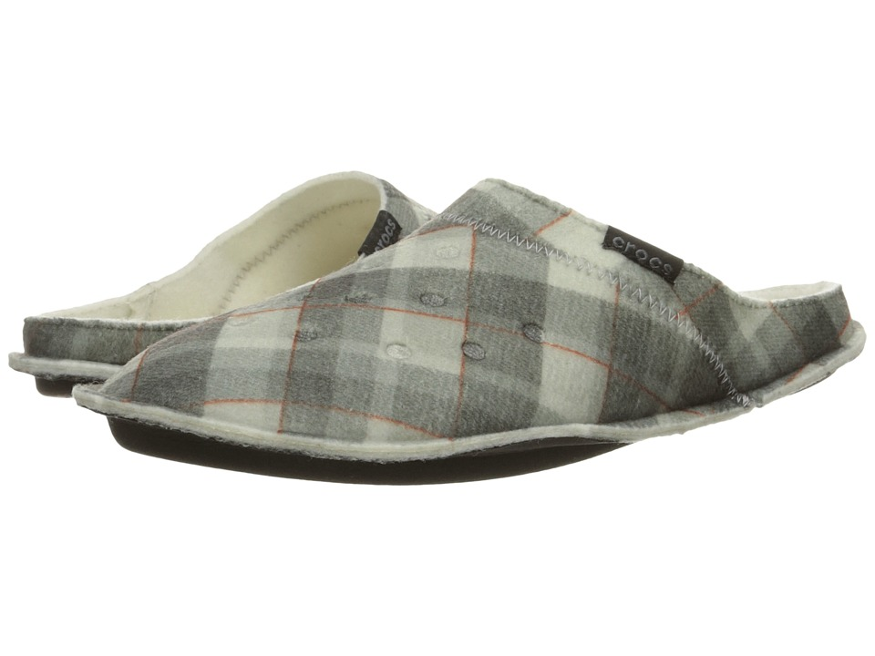 Crocs - Classic Plaid Slipper (Black/Oatmeal) Slippers